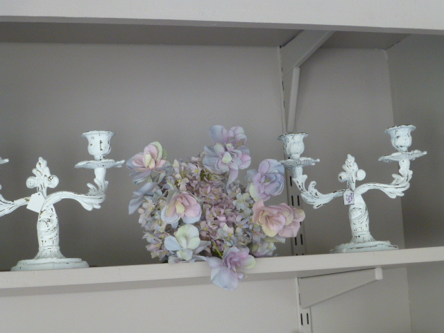 Bougeoirs Shabby chic